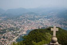 Free Lugano View From San Salvatore Stock Photos - 21073403