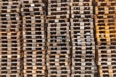 Free Stacked Pallets Stock Photography - 21073542