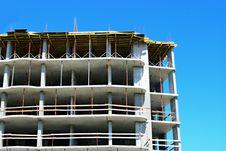 Construction Site And Concrete Building Stock Images
