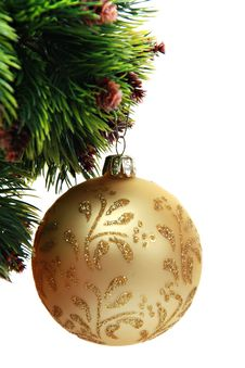 Free Golden Christmas Ball Stock Images - 21074154