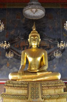 Free Buddha Image In The Church. Stock Image - 21074221