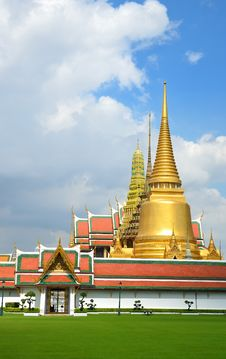 Grand Palace And Wat Phra Kaew , Bangkok,Thailan 2 Royalty Free Stock Photo