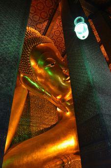 Free Reclining Buddha At Wat Pho, Bangkok, Thailand Stock Image - 21074271