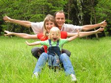 Free Happy Family With Little Girl Royalty Free Stock Photos - 21074738