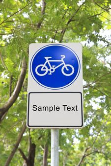 Free Bicycle Sign Royalty Free Stock Photos - 21075858