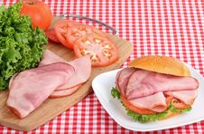 Free Ham And Tomato Sandwich Royalty Free Stock Photo - 21076115