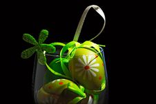 Free Easter Eggs In A Glass Royalty Free Stock Image - 21076256