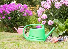 Free Watering Cans Royalty Free Stock Image - 21076326