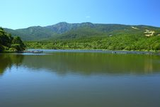 Free Blue Sky And Lake In The Mountain Stock Photo - 21076910