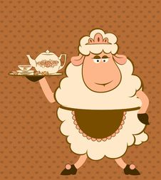 Free Sheep With Sweet Cakes. Stock Image - 21077171