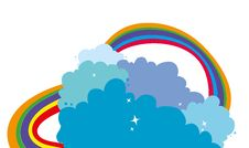 Free Clouds And Rainbow Stock Photo - 21077350
