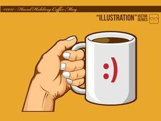 Free Illustration 0011 - Hand Holding Coffee Mug Stock Photography - 21078342