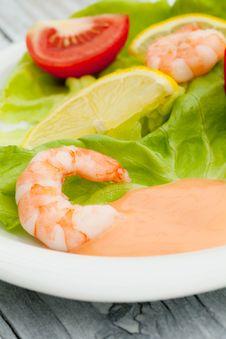 Free Shrimps Salad Stock Photos - 21078553