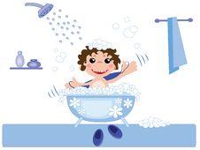 Free Boy In Bath Royalty Free Stock Image - 21078716