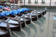 Free Venetian Gondolas In Venice Stock Photos - 21079403