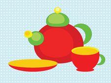 Free Tea Set Stock Image - 21079501