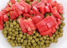 Free Tomato And Green Peas Royalty Free Stock Photography - 21079507