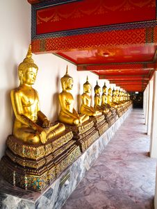 Buddhas Statue At Wat Pho In Bangkok, Thailand Royalty Free Stock Image