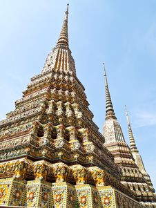 Free Ancient Pagoda In Wat Pho, Bangkok, Thailand Stock Photos - 21079853