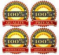 Free Satisfaction Guarantee Labels Royalty Free Stock Photography - 21083967