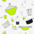 Free Seamless Pattern With Utensils Stock Photography - 21084882