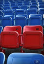 Free Red And Blue Stadium Seating Stock Photo - 21088990