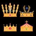 Free Royal Crowns Set Stock Photo - 21089260