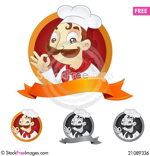 Free Cartoon Chef Royalty Free Stock Image - 21089336