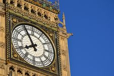 Free The Bigben Tower Clock Royalty Free Stock Photos - 21080058
