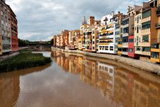 Free River Onyar In Girona Royalty Free Stock Image - 21080316