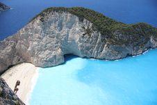 Free Smugglers Cove On Zakynthos Stock Image - 21081051