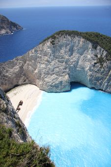 Free Smugglers Cove On Zakynthos Stock Photo - 21081060