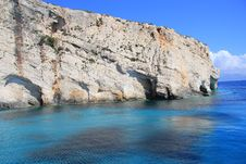 Free Blue Caves Of Zakynthos Royalty Free Stock Images - 21081129