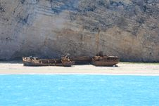 The Smugglers Bay With The Ship Wreck Royalty Free Stock Photos