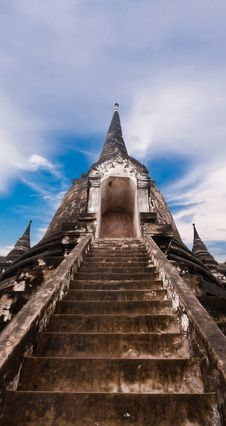 Free Stairway To Top Of Pagoda Stock Image - 21081261