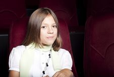 Free Girl At The Cinema Stock Photos - 21081313