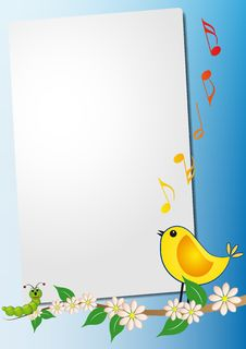 Free Sheet With Bird Song Royalty Free Stock Image - 21081516