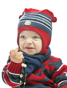 Free Caucasian Baby Boy In A Cap Stock Image - 21081631