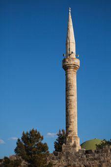 Free Mosque Tower At Yumurtalik Stock Image - 21082051