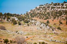 Rural Landscape In Turkey Royalty Free Stock Photo