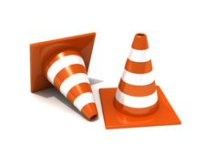 Free Road Traffic Orange Cones Stock Photography - 21082292