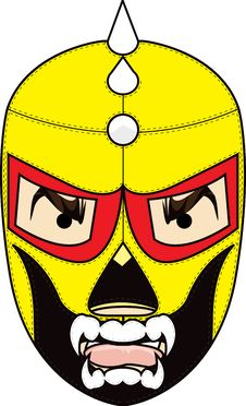 Free Mexican Wrestling Mask Royalty Free Stock Photo - 21082605