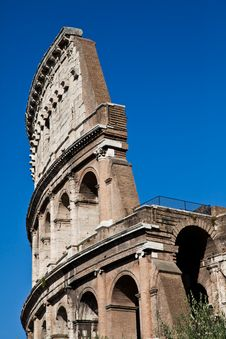Free Colosseum With Blue Sky Stock Image - 21083061