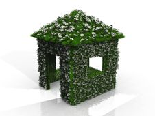 Free House With Grass And Flowers Stock Photography - 21083922