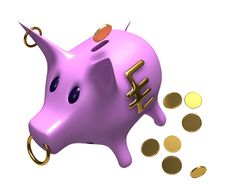 Free Pink Piggy Bank Royalty Free Stock Photo - 21083965