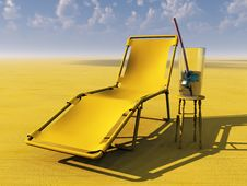 Free Lounge Chair And Drink Royalty Free Stock Photography - 21084127