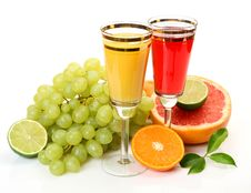 Ripe Fruit And Juice Royalty Free Stock Image