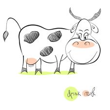 Free Illustration Of Cow Royalty Free Stock Image - 21084836