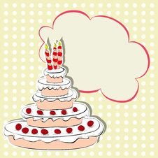 Free Card With Cake Stock Photos - 21084933