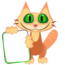 Free Ginger Cat And Billboard Royalty Free Stock Photo - 21084975